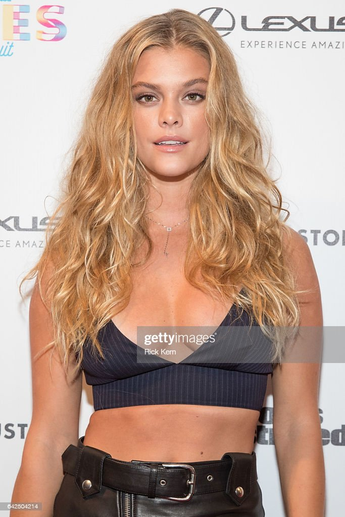 SI Swimsuit model Nina Agdal attends the VIBES by Sports Illustrated Swimsuit 2017 launch festival at Post HTX on February 17, 2017 in Houston, Texas.