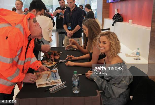 Swimsuit model Rose Bertram at the VIBES by Sports Illustrated Swimsuit 2017 launch festival on February 17 2017 in Houston Texas