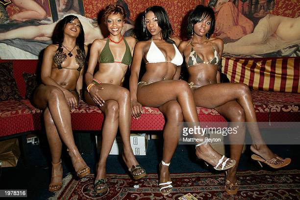 Swimsuit models attend Source Magazine's Annual Swimsuit Issue Summer KickOff Party at Show nightclub May 6 2003 in New York City