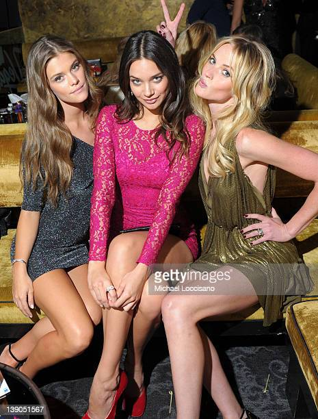 SI swimsuit models Nina Agdal Michelle Vawer and Anne V attend SI Swimsuit On Location hosted by Haze Nightclub at the Aria Resort Casino at...