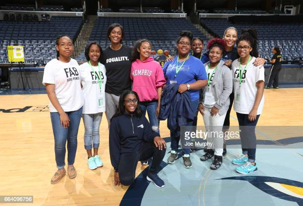Swin Cash and Allison Feaster participates during the Memphis Grizzlies first annual Girl's Summit on March 30 2017 at FedExForum in Memphis...