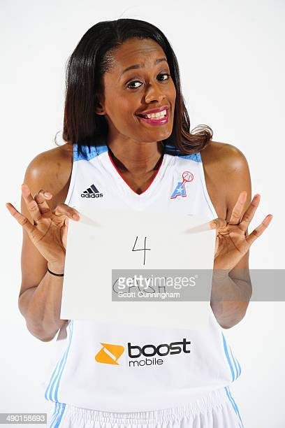 Swin Cash of the Atlanta Dream poses for a photograph during WNBA Media Day at Philips Arena on May 9 2014 in Atlanta Georgia NOTE TO USER User...