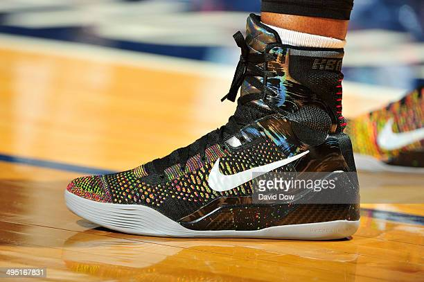 Swin Cash of the Atlanta Dream wears Nike Kobe 9 shoes during a game against the Connecticut Sun on June 01 2014 at the Mohegan Sun Arena in...