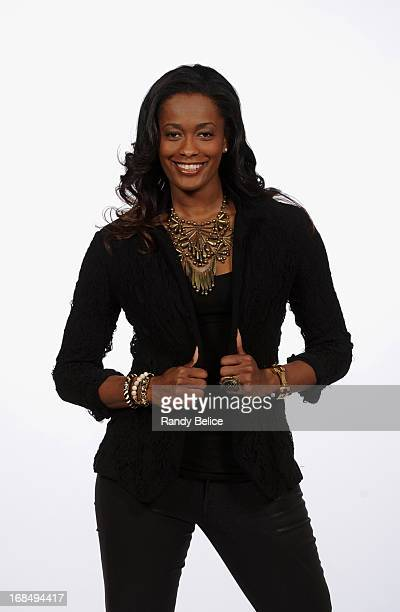 Swin Cash of the Chicago Sky gets her portrait taken during the 2013 Chicago Sky Media Day on May 09 2013 at the Sachs Recreation Center in Deerfield...