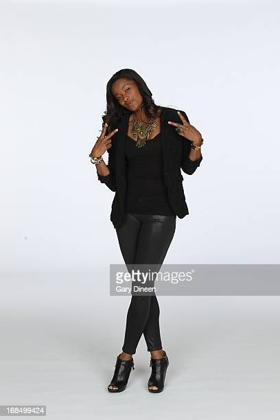 Swin Cash of the Chicago Sky poses during the 2013 Chicago Sky Media Day on May 09 2013 at the Sachs Recreation Center in Deerfield Illinois NOTE TO...