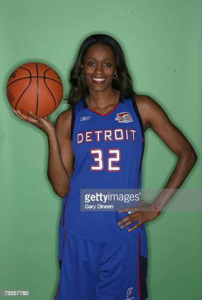 Swin Cash of the Detroit Shock poses for a portrait before competing in the Haier Shooting Stars at NBA AllStar Weekend on February 17 2007 at the...