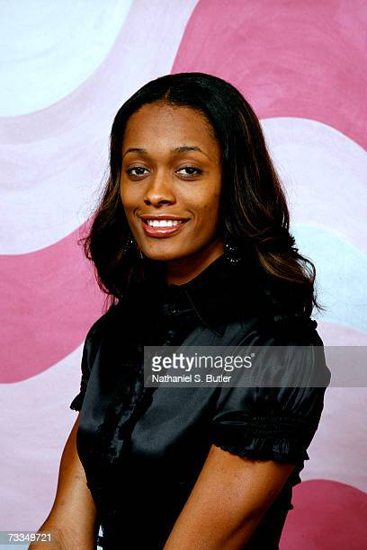 Swin Cash of the Detroit Shock poses for a portrait during All Star Media Availability on February 16 2007 at The Palms Resort and Casino in Las...
