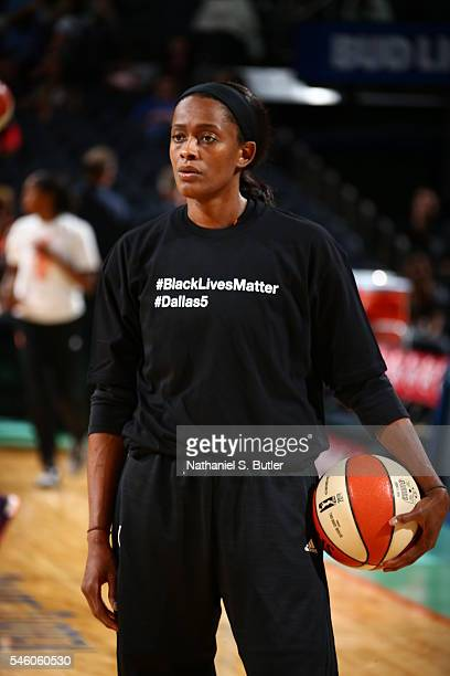 Swin Cash of the New York Liberty is seen before the game against the San Antiono Stars on July 10 2016 at Madison Square Garden in New York New York...