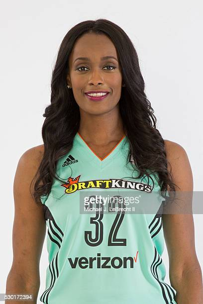 Swin Cash of the New York Liberty poses for a head shot during media day on May 09 2016 at Madison Square Garden Training Center in Tarrytown New...