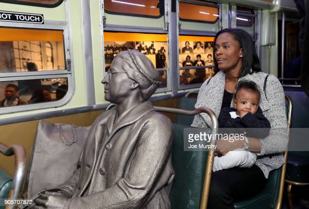 Swin Cash participates in MLK Sports Legacy Award and a tour of the National Civil Rights Museum on January 14 2018 at the National Civil Rights...