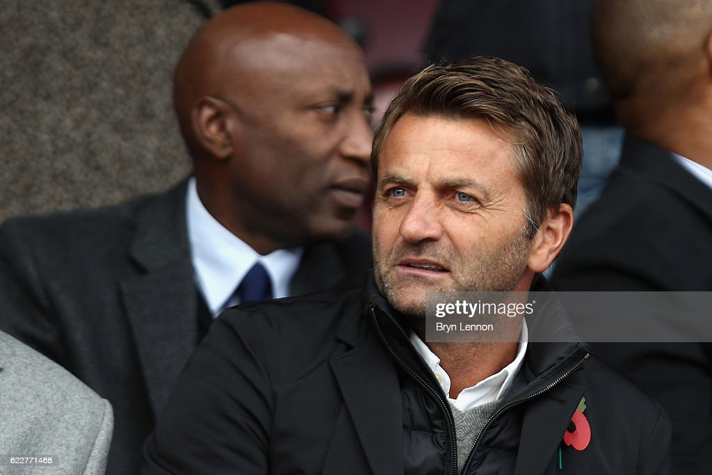 Swindon Town Director of Football Tim Sherwood looks on prior to the Sky Bet League One match between Swindon Town and Charlton Athletic at County Ground on November 12, 2016 in Swindon, England.