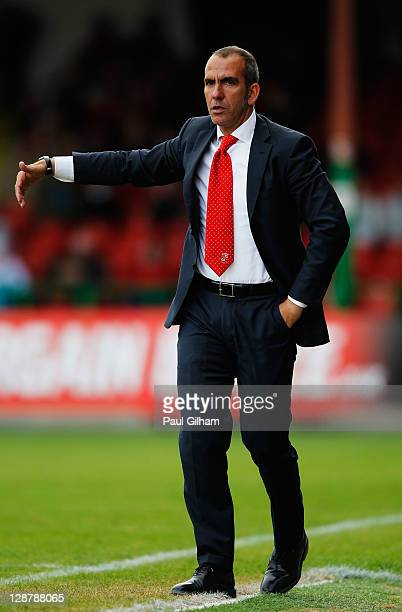 Swindon Town manager Paulo Di Canio looks on from the touchline during the npower League Two match between Swindon Town and Hereford United at the...
