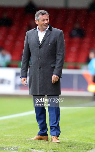 Swindon Town manager Phil Brown looks on during the Sky Bet League Two match between Swindon Town and Northampton Town at The Energy Check County...