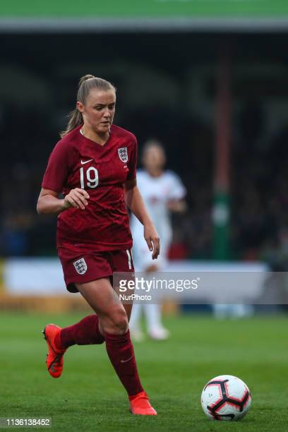 Swindon UK 09 April 2019 England Women's Georgia Stanway on the ball during the International Friendly between England Women and Spain Women at...