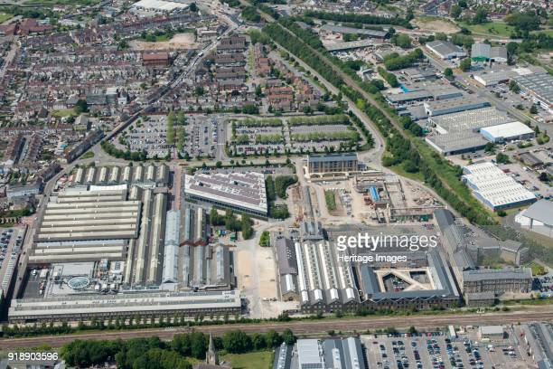 Swindon Works, Wiltshire, 2015. Formerly the Great Western Railway Works, it now houses the STEAM museum, the headquarters for the National Trust,...