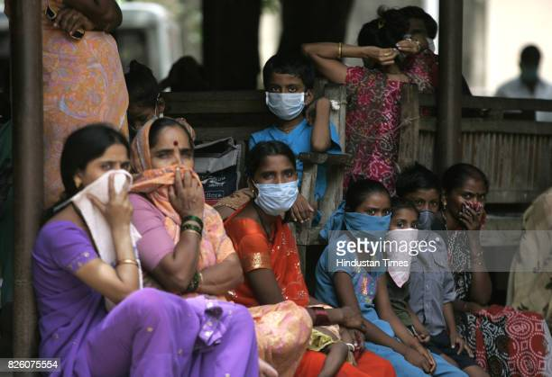 Swine Flu in Mumbai - People gathered in Bhagvati hospital for swine flu test at borivali