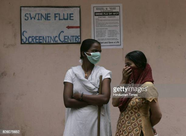 Swine Flu in Mumbai People gathered in Bhagvati hospital for swine flu test at borivali