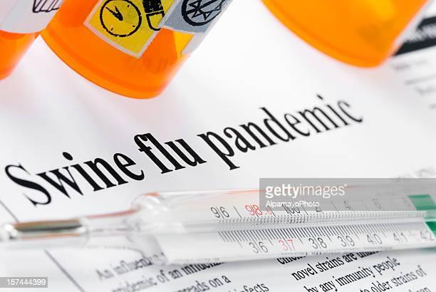swine (influenza a/h1n1) flu pandemic headlines - ii - swine influenza virus stock pictures, royalty-free photos & images
