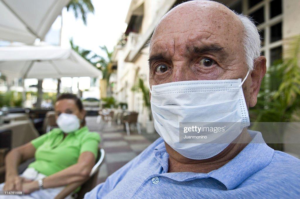 Swine flu paranoia : Stock Photo