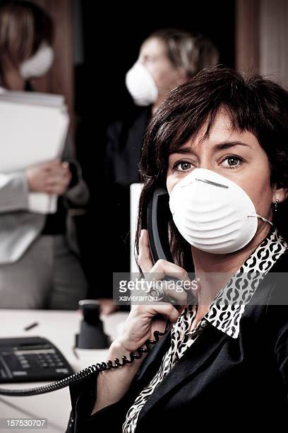 swine flu virus - flu mask stock photos and pictures