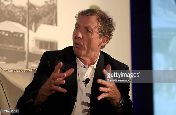 Swing coach David Leadbetter speaks during the HSBC Golf Business Forum on November 30, 2016 in Ponte Vedra Beach, Florida.