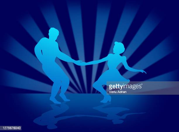 swing dance couple - clip art family stock pictures, royalty-free photos & images