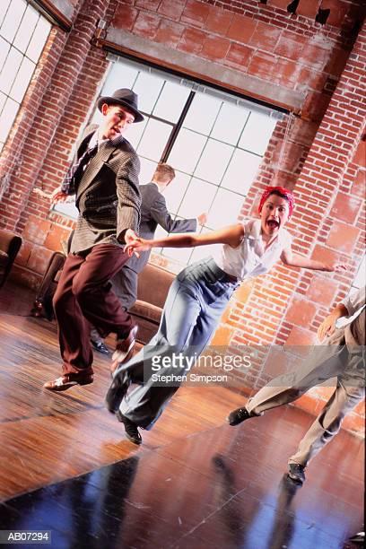 Swing dancers