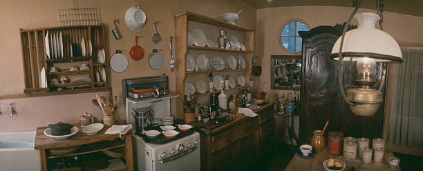 Elizabeth David\'s Kitchen Pictures | Getty Images