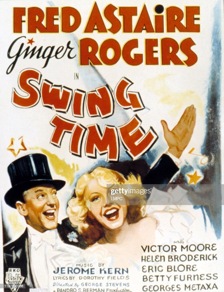 Swing Time, poster, Fred Astaire, Ginger Rogers, 1936  News