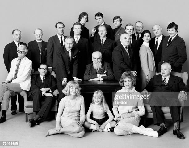 Swinging London Group taken on 9th February 1966 Standing Prince Dimitri Romanoff The Bishop of Kensington Dave Dick Colin Chapman David Hicks Dave...
