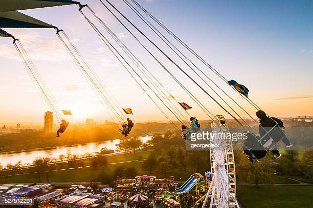 swinging over london - hyde park london stock photos and pictures