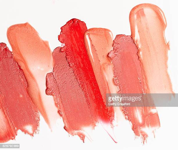 swipes of lip gloss
