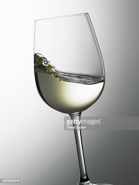A swirl of white wine