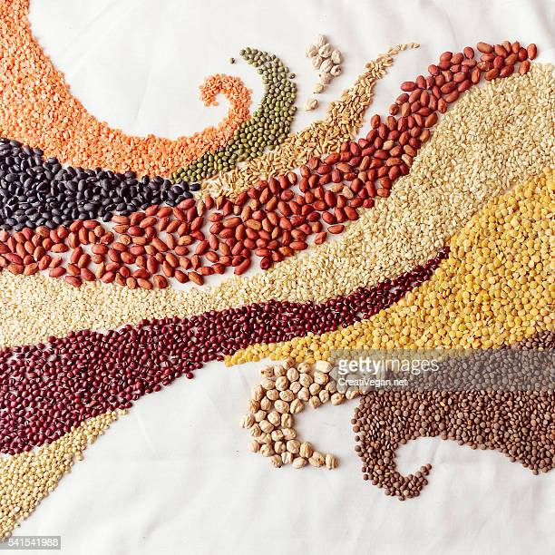 Swirl waves with legumes and cereals
