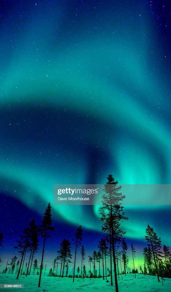 Swirling Aurora : Stock Photo