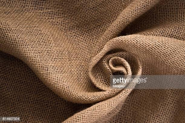 Swirling Burlap Texture Linen Material Vortex