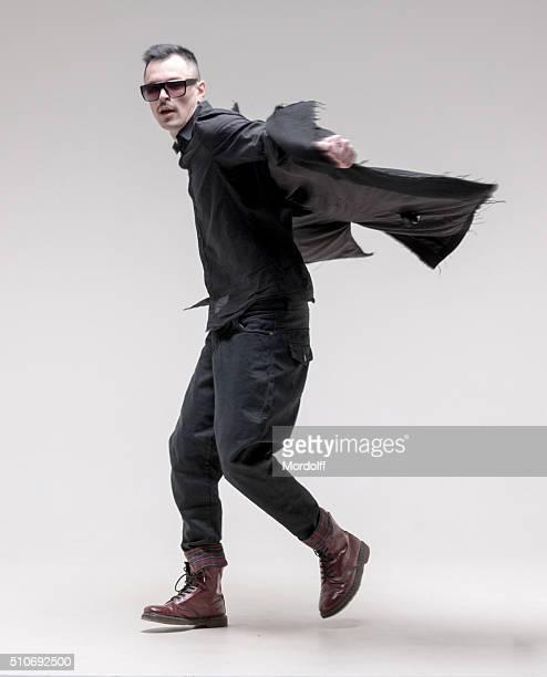 Swirling Man Fashion Model