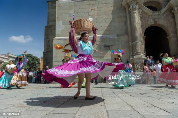 swirling purple skirt and braids on the día de los muertos, oaxaca - mexican fiesta stock pictures, royalty-free photos & images