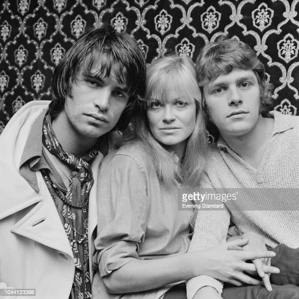 Swiss actor and director Oliver Tobias English actress Annabel Leventon and English actor and singer Paul Nicholas three of the original London cast...