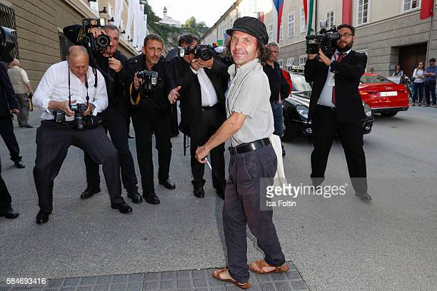 Swiss actor David Bennent attends the premiere of the opera 'Cosi Fan Tutte' on July 29 2016 in Salzburg Austria
