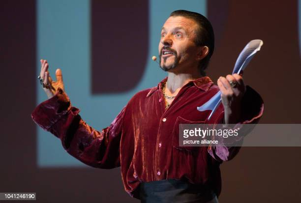 Swiss actor David Bennent speaks during the opening of the 23rd Hamburg Film Festival in Hamburg Germany 01 October 2015 Photo Axel Heimken/dpa |...