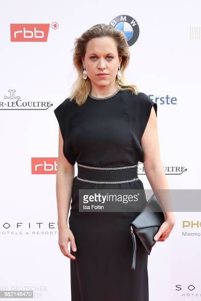 Swiss actress Anne Haug attends the Lola German Film Award red carpet at Messe Berlin on April 27 2018 in Berlin Germany