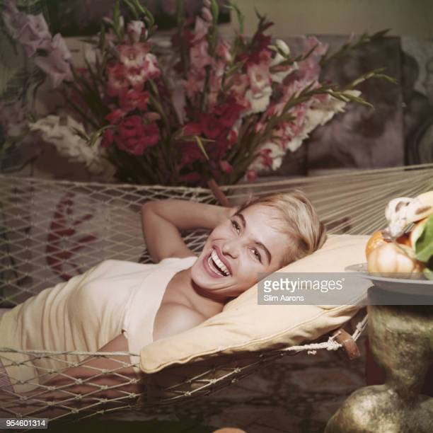 Swiss actress fashion model and sex symbol Ursula Andress at a house in Via Margutta Rome Italy 1955