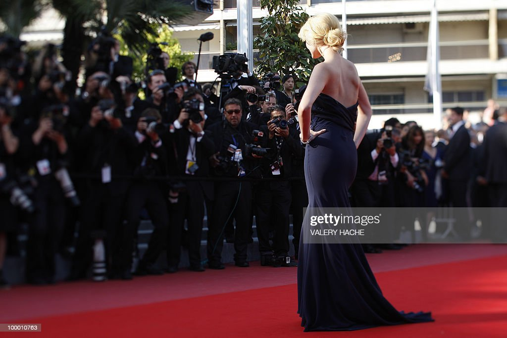 Swiss actress Helena Mattsson arrives for the screening of 'Biutiful' presented in competition at the 63rd Cannes Film Festival on May 17, 2010 in Cannes. Picture taken with a tilt and shift lens.