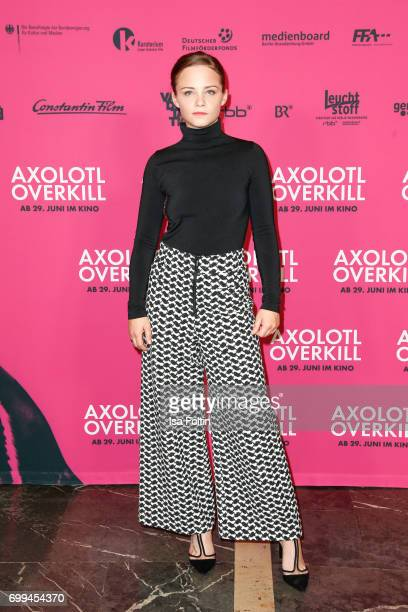 Swiss actress Jasna Fritzi Bauer attends the 'Axolotl Overkill' Berlin Premiere at Volksbuehne RosaLuxemburgPlatz on June 21 2017 in Berlin Germany