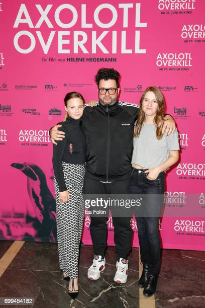 Swiss actress Jasna Fritzi Bauer German comedian and author Oliver Polak and German director Helene Hegemann attend the 'Axolotl Overkill' Berlin...