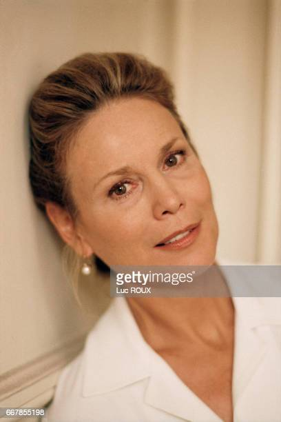 Swiss Actress Marthe Keller on the set of the film Le Derriere directed by Valerie Lemercier