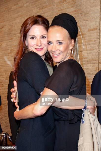 Swiss actress Nadine Schori and German actress Katja Riemann during the 'Herrliche Zeiten' Premiere In Berlin at Kino International on April 24 2018...