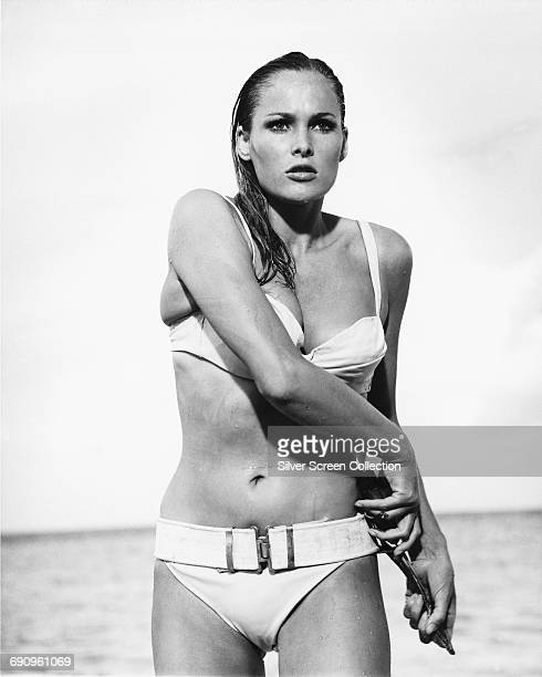 Swiss actress Ursula Andress as Honey Ryder in a scene from the James Bond film 'Dr. No', 1962.