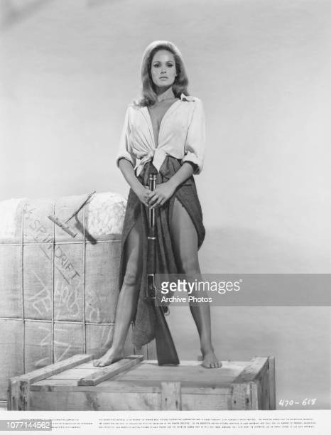 Swiss actress Ursula Andress as Maxine in a publicity still for the Warner Bros film '4 For Texas' 1963